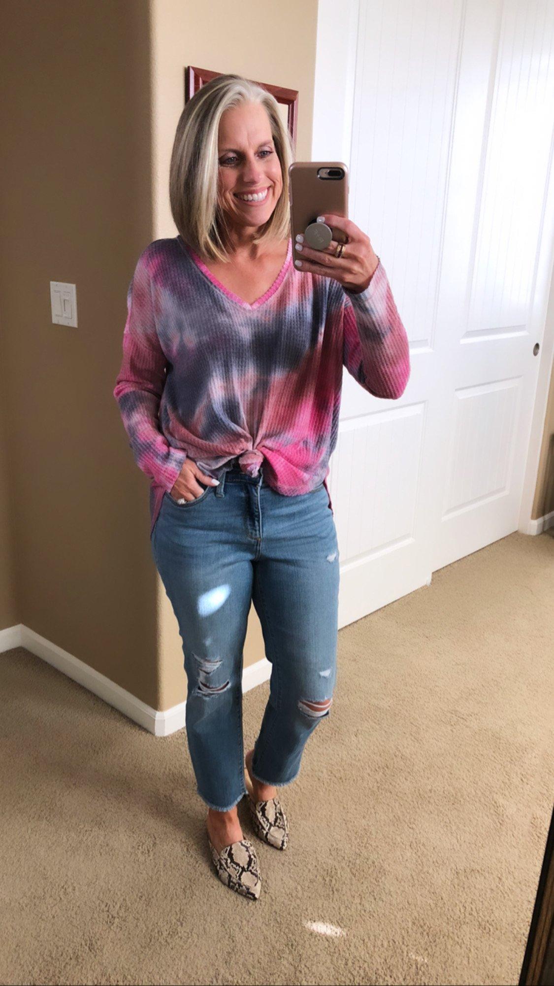 Target tie-dye top