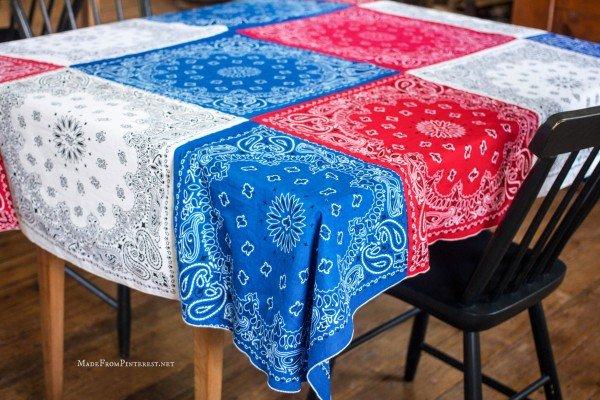Bandana Tablecloth 4th of July Inspiration Coast to Coast