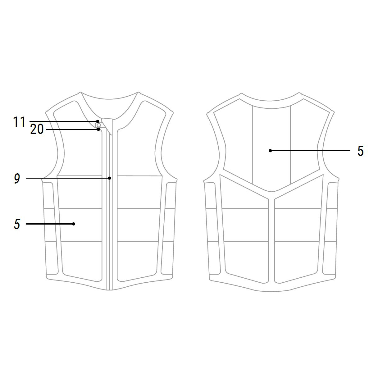 Mystic Star Front Zip Impact Vest