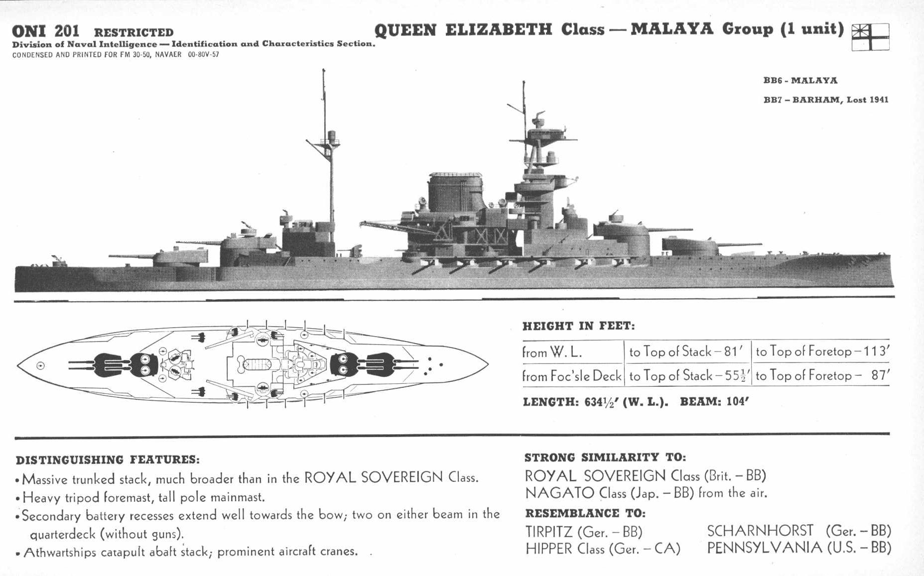 hight resolution of  malaya class battleship