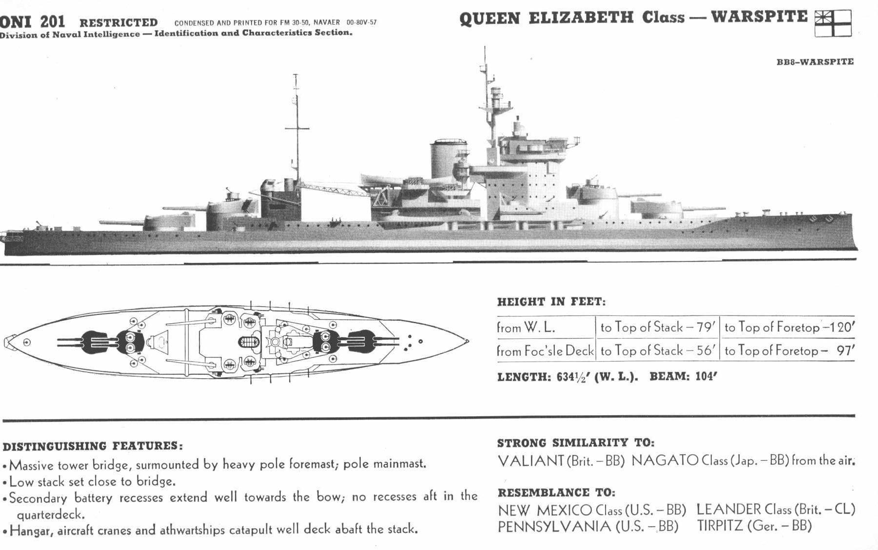 hight resolution of  warspite battleship