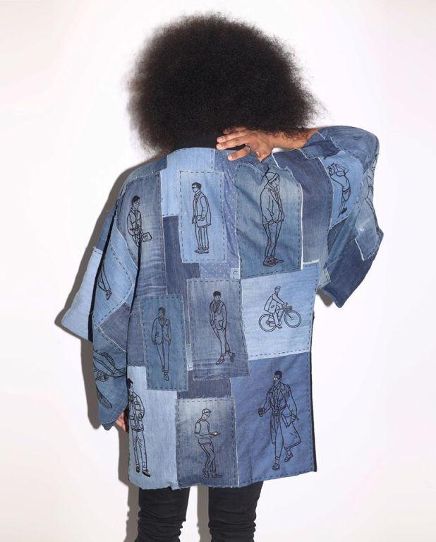 model in kimono