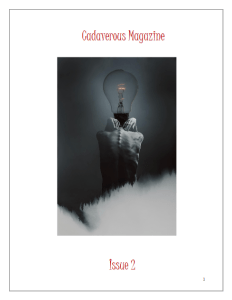 Book Cover: Cadaverous Magazine
