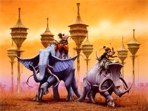 Elephant Illustration by Rodney Matthews