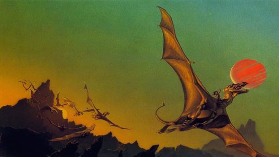 Michael Whelan cover for Dragonflight