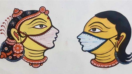 indians folklore masked