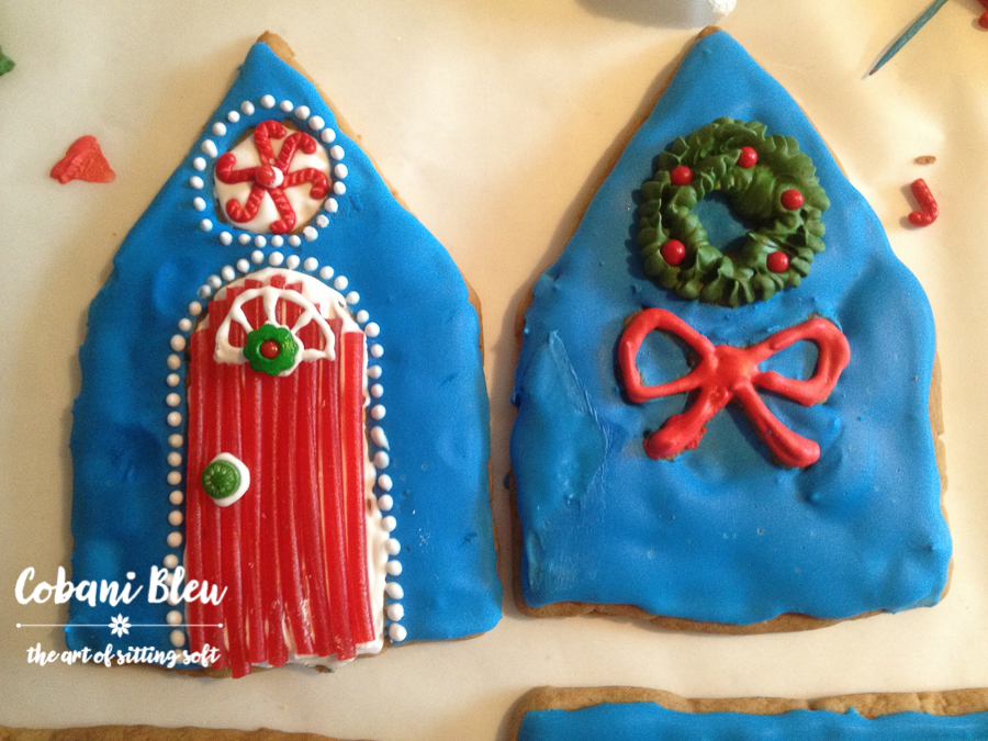 Blue Gingerbread House