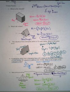 Answers to the Volume and Surface Area Study Guide (Unit 4