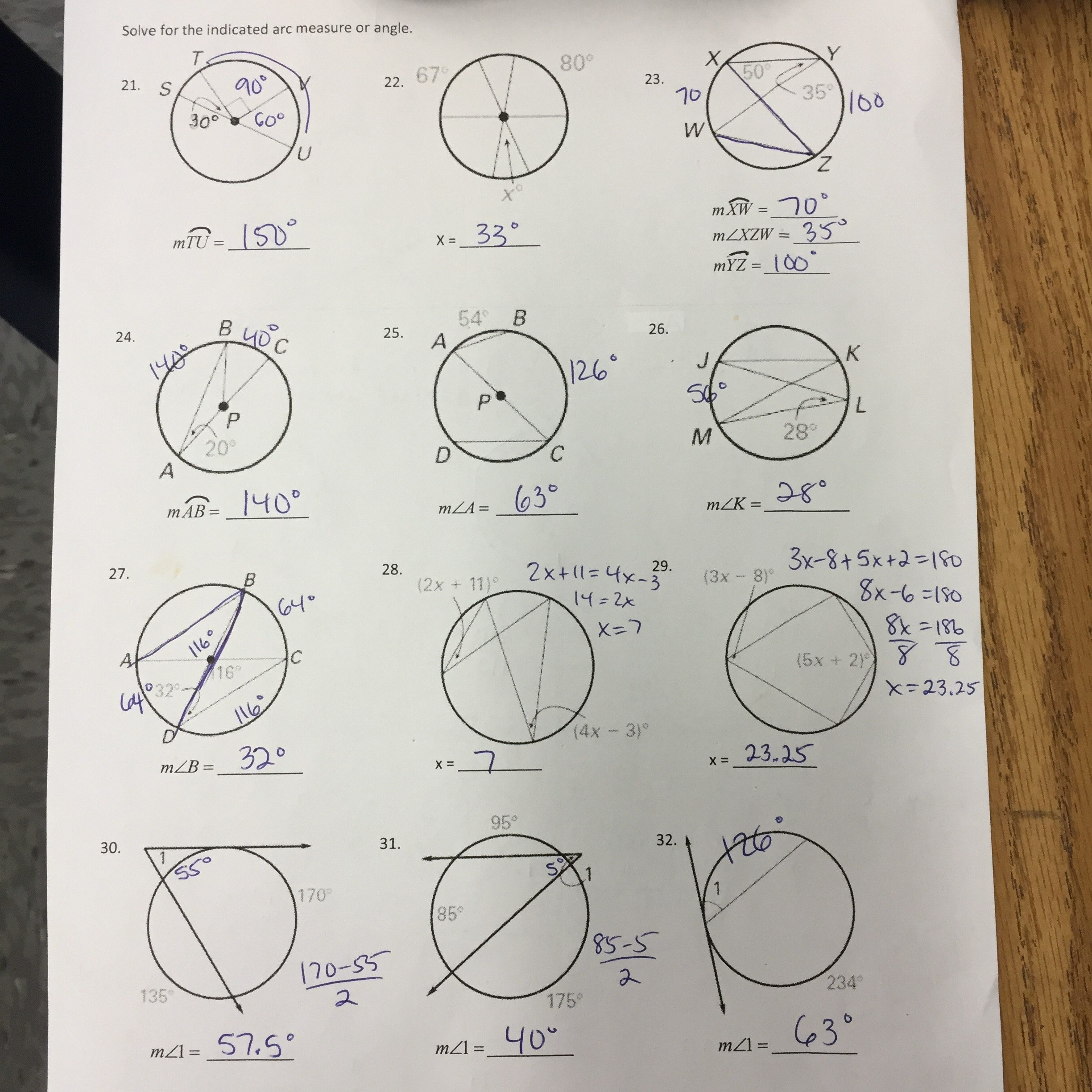 Equation Of A Circle Worksheet Geometry Answer Key