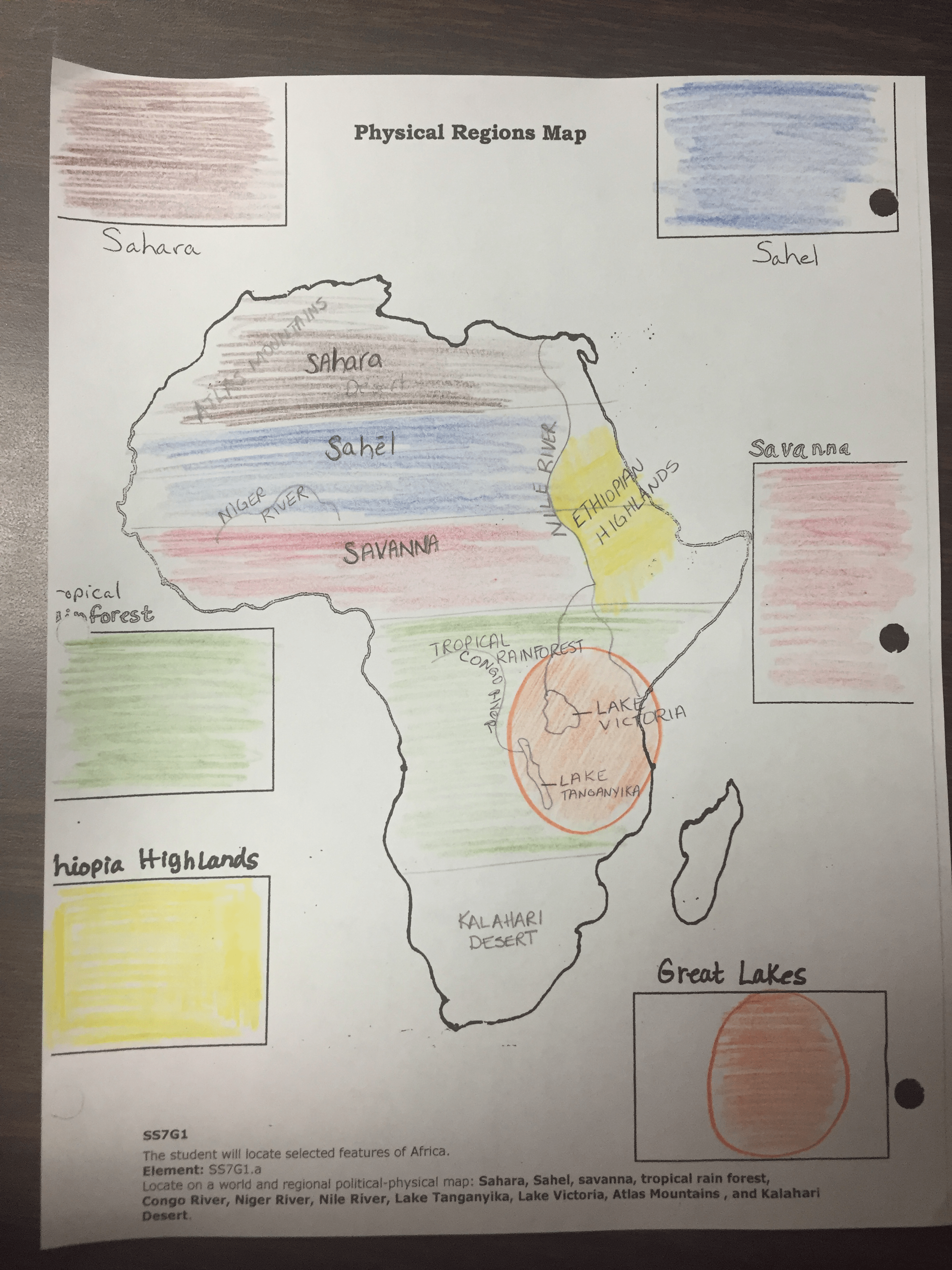 Week Of December 7th 11th Maps Of Africa Mrs Molloy S 7th Grade Social Stu S