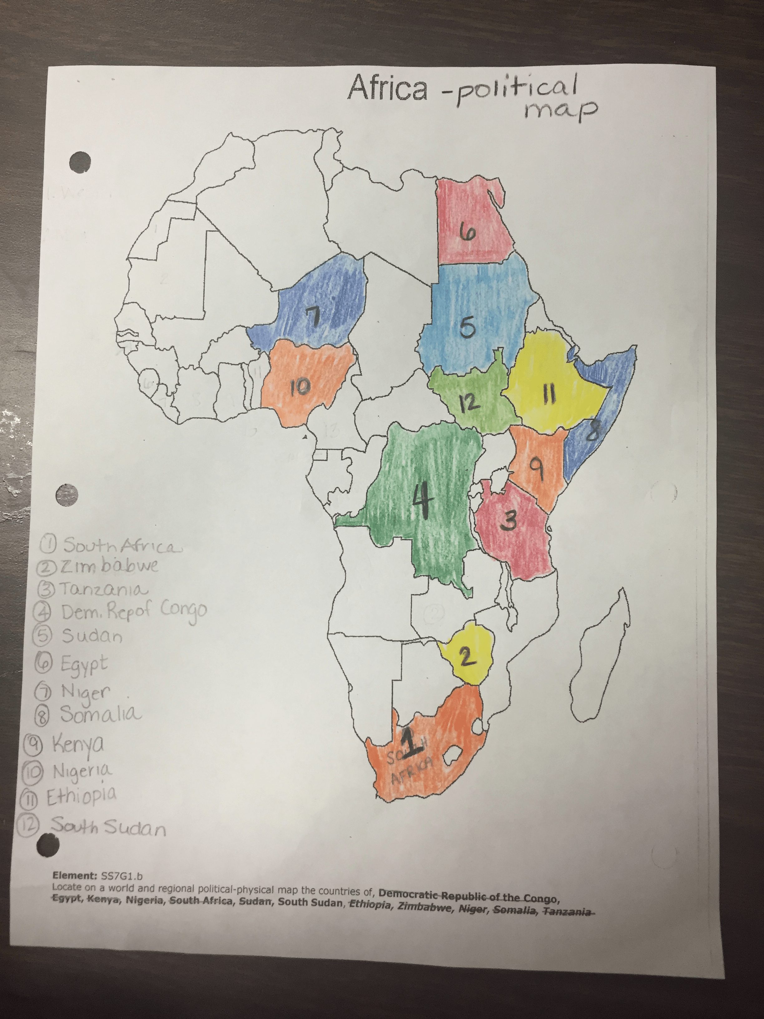 Week Of December 7th 11th Maps Of Africa Mrs Molloy S