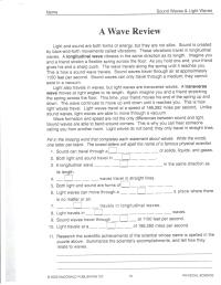 Worksheets And Answers Physical Science Waves. Worksheets ...