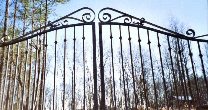Ornamental Iron Driveway Gates