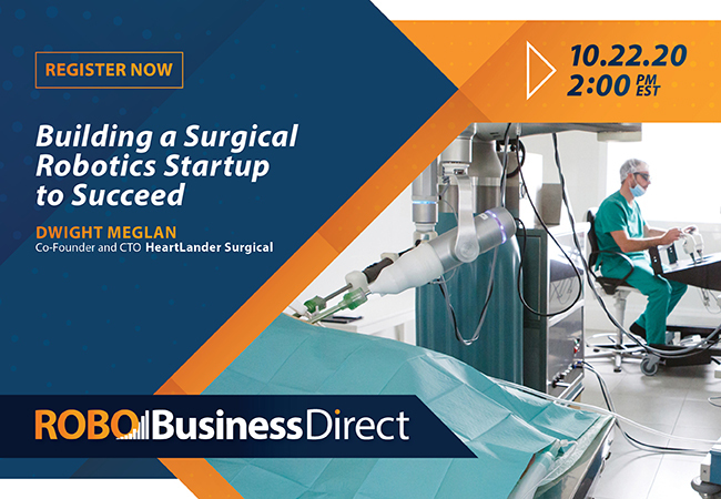Surgical robotics startups need a strategy for success, says RoboBusiness Direct speaker