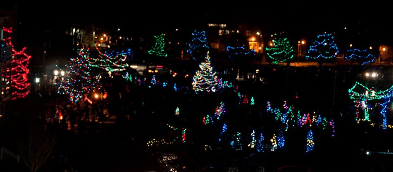 Christmas Lights at Waterfront - view from above