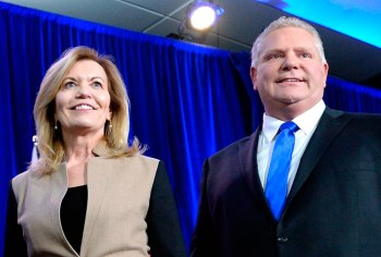 Christine Elliott and Doug Ford