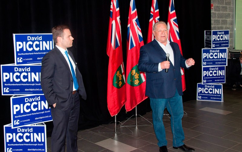 Doug Ford with David Piccini