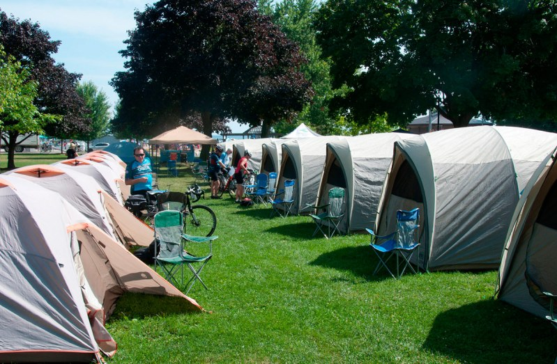 The rented tents