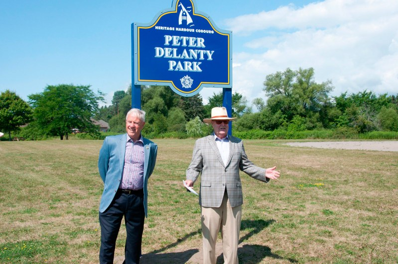 Peter Delanty and Mayor Gil Brocanier