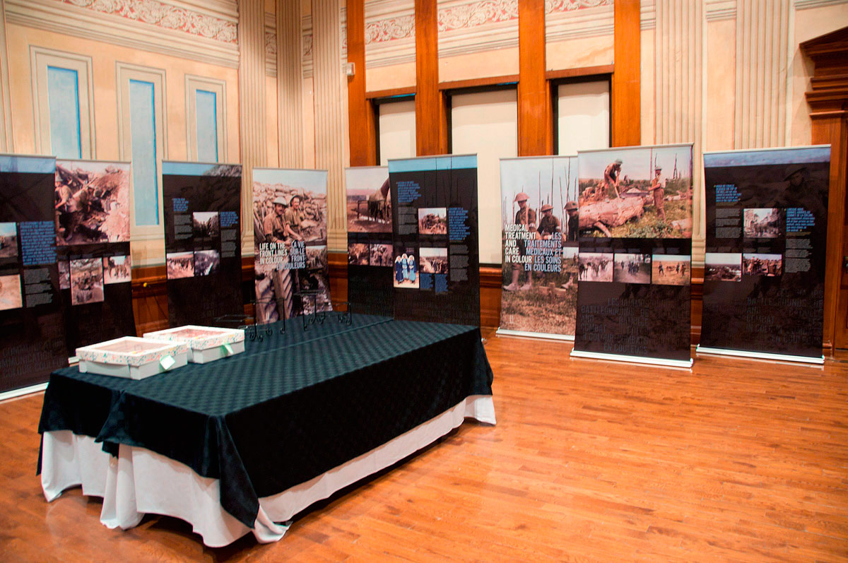 Panels on Display in Victoria Hall