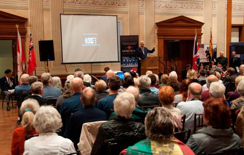 Hugh Brewster - Armistice opening ceremony