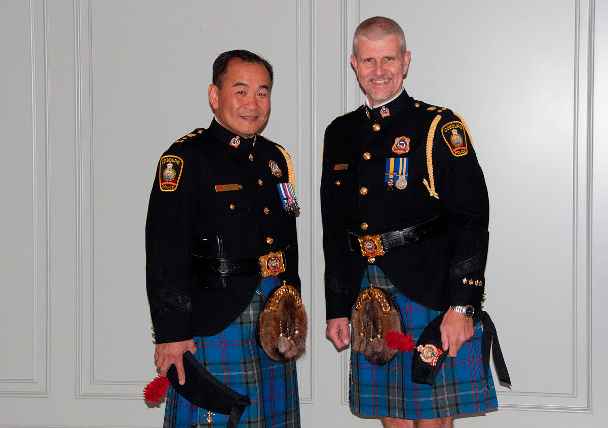 Police Chief Kai Liu and Deputy Chief Paul Vandegraaf