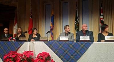 New Council - watching John Henderson make inaugural speech