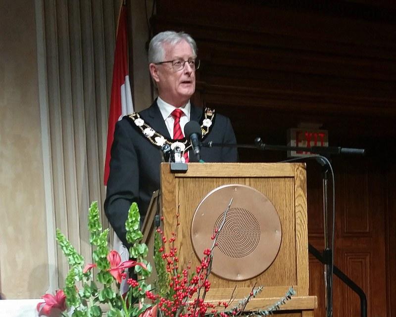 John Henderson making inaugural speech
