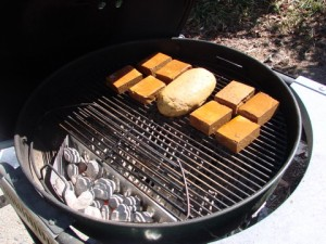 Smoking tofu and seitan