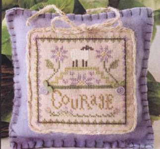 Little Sheep Virtues No. 4 - Courage by Little House Needleworks Counted  Cross Stitch Pattern