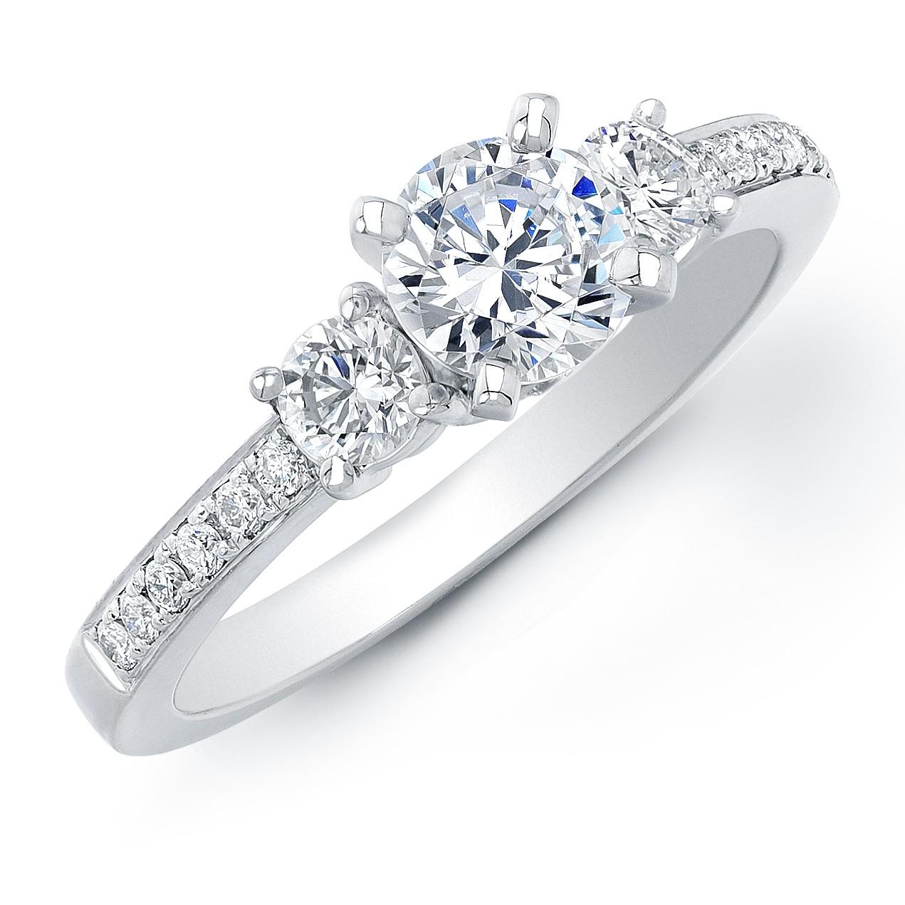 1Ct TW Diamond ThreeStone Engagement Ring