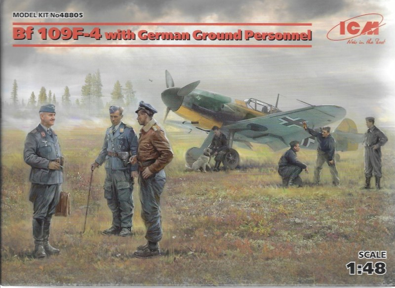BF 109 F-4 WITH GERMAN GROUND PERSONNEL ICM 48805
