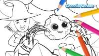 Disegni da colorare Halloween - Whiskey il ragnetto e la ...
