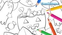 Disegni da colorare Halloween - La zucca e i fantasmi