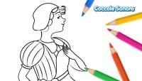 Disegni da colorare - Carnevale - Maschera di Colombina