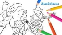 Disegni da colorare - Carnevale - Maschere tradizionali