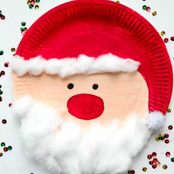 Sagome per lavoretti di natale. Lavoretti Di Natale Per Bambini Realizzati Con Piatti Di Carta