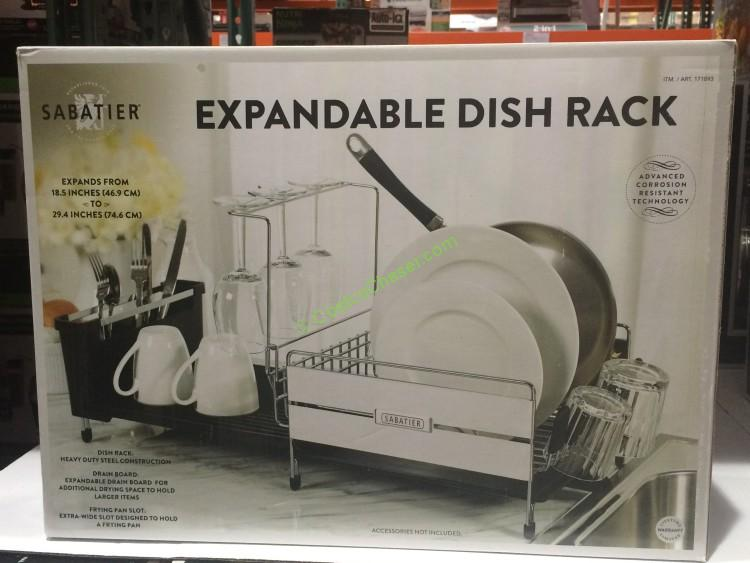 costco kitchen countertops remodeling kitchens sabatier stainless steel expandable compact dish rack ...
