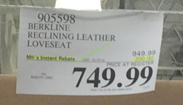costco-905598-berkline-reclining-leather-loveseat-tag