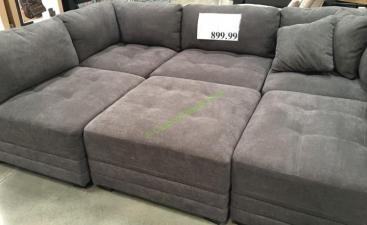 6 Piece Modular Fabric Sectional Costcochaser