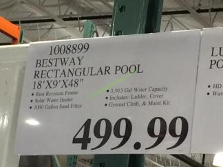 Bestway Rectangular Pool 18 X9 X48 Costcochaser