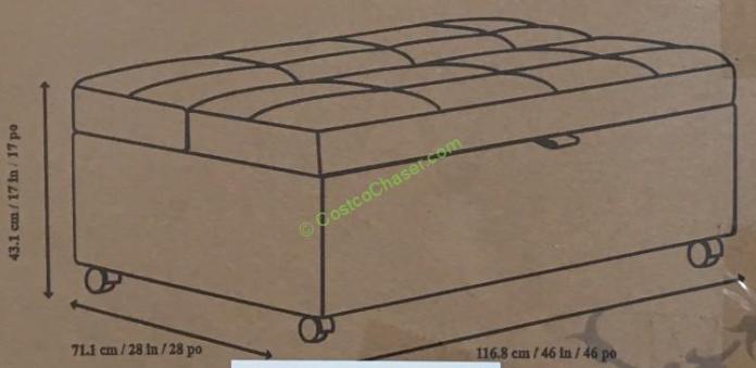 costco-143190-synergy-sleeper-ottoman-dimension