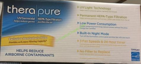 Therapure Tower Air Purifier With Uv Light Ttp540