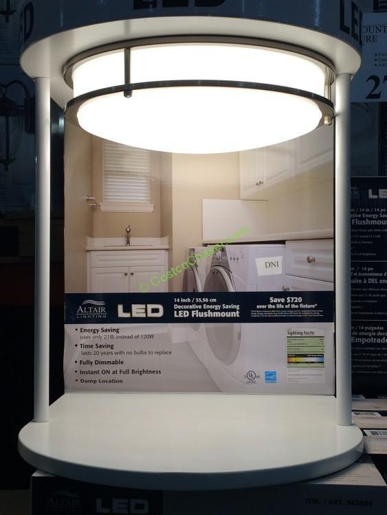 altair lighting 14 flushmount led