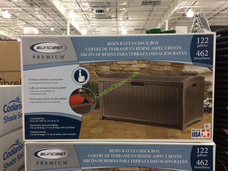 Suncast Resin Deck Box 122 Gallon Costcochaser