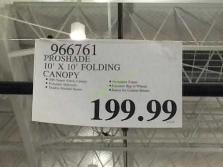 costco-966761-proshade-10-10-folding-canopy-tag