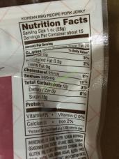 Golden Island Korean Bbq Pork Jerky 14 5 Ounce Bag