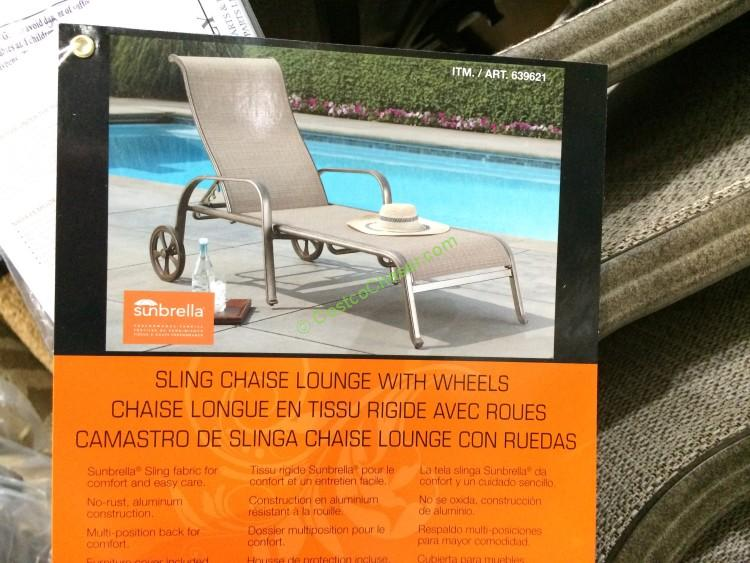 Sunvilla International Sling Chaise Lounge  CostcoChaser