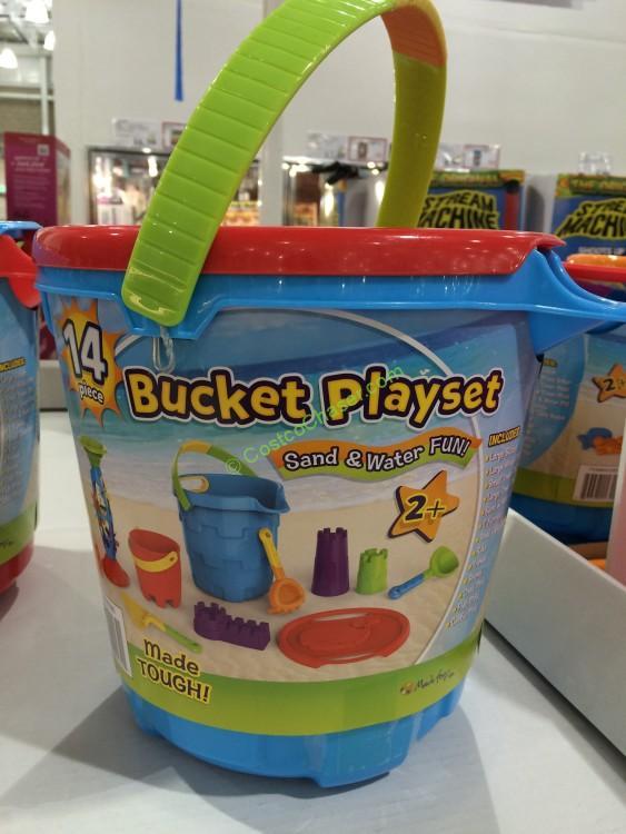 14pc bucket playset sand