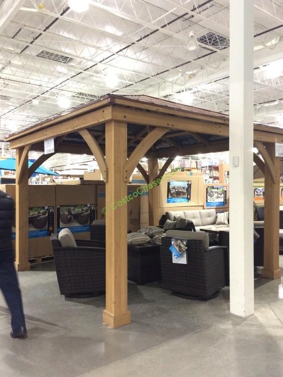 14 cedar gazebo with aluminum roof